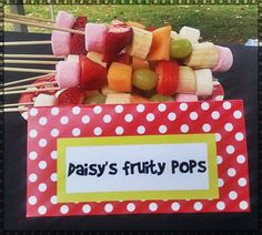 fruit skewers for mickey mouse clubhouse party