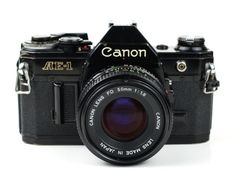 Black Body Canon AE-1 35mm Film SLR Camera with by ValueBliss