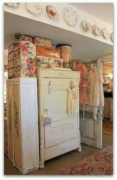 Wallpapered Boxes~Karla's Cottage.