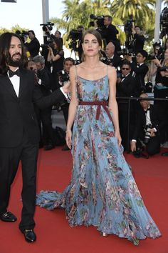 "Charlotte Casiraghi in a Gucci gown attends the Premiere of ""Rocco And His Brothers"" during the 68th annual Cannes Film Festival on May 17, 2015 #Cannes2015"