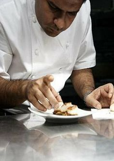 Chef Vivek Singh at The Cinnamon Club, The Old Westminster Library, London
