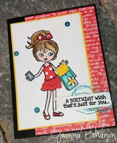 Hey, Girl #StampinUp #TGIFC card created by Jeanna Bohanon
