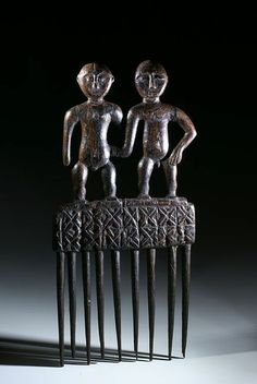 Africa | Comb from the Mali (Dogon people) or Ghana | Wood | 1960