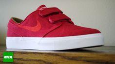 Red Nike Janoski Velcro