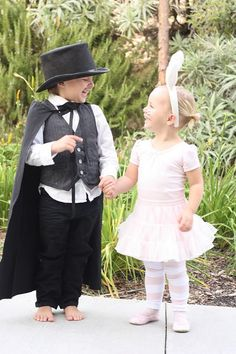 Costumes: the magician and his bunny