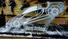 Bugatti ice luge for a birthday. #iceluges