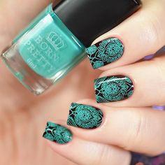 Press on nails green nails matte nails matte nude nails
