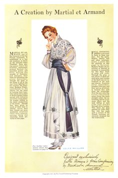 """Coles Phillips - Fashion Page from Woman's Home Companion Magazine (1917) """"A Creation by Martial et Armand"""""""