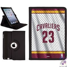 $40.00: LeBron James iPad Air (5th Gen iPad) Swivel Stand Case (Home Jersey Front)