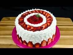 ▶ Strawberry Cake Recipe: How to Make Strawberry Cake by Cookies Cupcakes and Cardio - YouTube