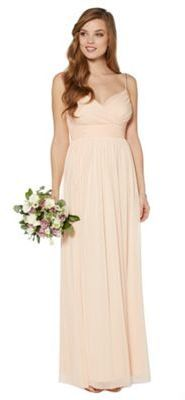 Debut Peach embellished strap maxi dress