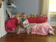 Turn that old crib mattress into a reading nook for your toddler! BabyBump - the app for pregnancy - babybumpapp.com