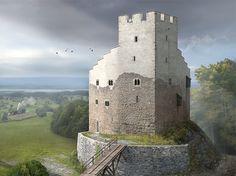 Reconstruction of a castle in Lieli by Joe Rohrer