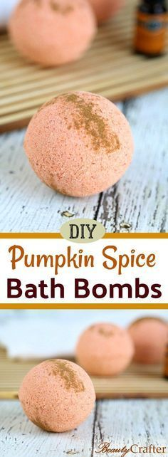 Pumpkin Spice Bath Bombs DIY Recipe, easy fall craft