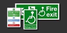Refuge & Assembly Point Signs