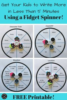 Free Printable for an easy fidget spinner diy or teacher lesson plan in the classroom. Get fun fidget spinner activities Teaching Writing, Writing Activities, Teaching English, Social Skills Activities, Kids Writing, Teacher Lesson Plans, Home Schooling, English Lessons, Kids Learning