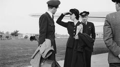 Circa 1955: Members of an air crew on the runway before departure. (V. von Bonin/BIPs/Getty Images)  - Glamour in the Skies: Vintage Air Travel Photos | The Weather Channel