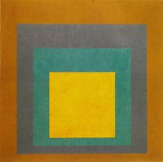 Josef Albers, of course. Homage to the Square, 1957.