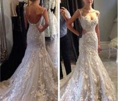 Sexy Wedding Dresses, A-Line Wedding Dresses, Applique Wedding Dresses, Backless Wedding Dresses, Mermaid Wedding Dresses, Sleeveless Wedding Dresses, Custom Wedding Dresses