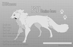 Furry Wolf, Furry Art, Oc Drawings, Cartoon Drawings, Anime Poses Reference, Art Reference, Chibi Dog, Wolf Base, Maned Wolf
