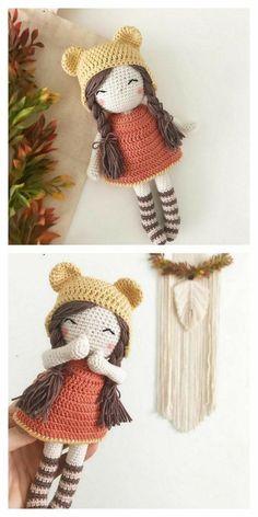 Amigurumi The Sleeping Doll Free Pattern – Amigurumi Crochet de ganchillo patrones gratis Doll Amigurumi Free Pattern, Crochet Amigurumi Free Patterns, Crochet Animal Patterns, Amigurumi Doll, Knitting Patterns, Cute Crochet, Crochet Crafts, Crochet Baby, Crochet Projects