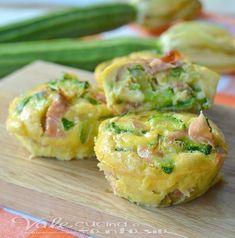 Frittatine al forno con zucchine e mortadella