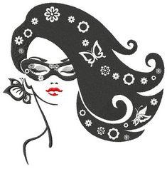 Posh girl machine embroidery design. Machine embroidery design. www.embroideres.com