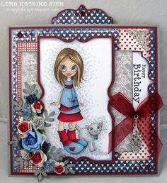 Lena Katrine`s Scrappeskreppe: DT Sketchy Colors - Challenge #121: Red, Blue & Grey