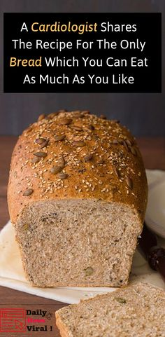 A Cardiologist Shares The Recipe For The Only Bread Which You Can Eat As Much As… – food_brot / bread / pain / pane - keto diet Gluten Free Recipes, Low Carb Recipes, Cooking Recipes, Healthy Recipes, Easy Healthy Bread Recipe, Bread Recipe For Diabetics, Healthy Breads, Fish Recipes, Healthy Food