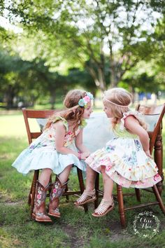 Harper (left) & Hailey (right) dresses by Olive Mae Clothing, releasing June 15 & 18th.