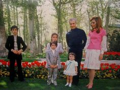 The Pahlavi Family of Iran. Photo is during Nowrooz. Farah Diba, King Of Persia, Pahlavi Dynasty, The Shah Of Iran, Persian Pattern, Crown Jewels, Royalty, Photoshoot, Culture