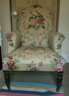 Vintage floral armchair   eBay