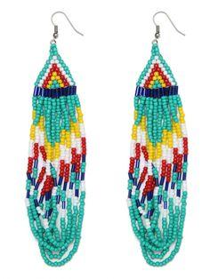 Masai cascade beaded earrings