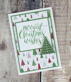 Watercolor Christmas Be Merry Christmas Card #GDP108