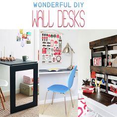 Wonderful DIY Wall Desks