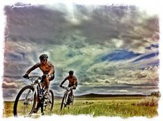 Cyclists competing in the Cape Pioneer Trek mtb stage race, South Africa. by Cornelius Muller
