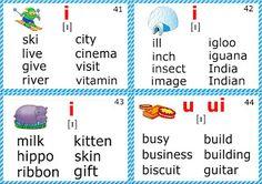 phonics flashcards for kids short i sound