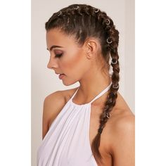 29 Ways to Pimp Your Plaits With Hair Jewellery ❤ liked on Polyvore featuring accessories, hair accessories and hair
