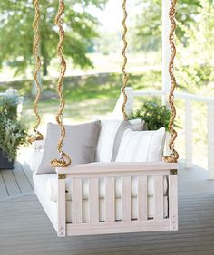 Southern Living Idea House 2013.  Sunday Porch Swing from Ballard Designs.