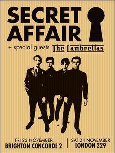 SECRET AFFAIR + The Lambrettas