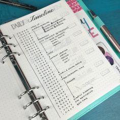 Daily timeline bujo | Bujo- Layouts | Pinterest | Bujo ...