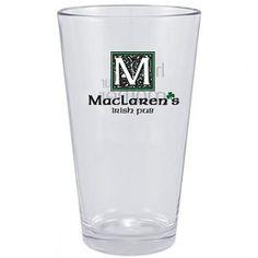 How I met your mother vrijgezellenfeest - Suit Up -MacLaren's Irish Pub Pint Glass from How I Met Your Mother! Bar Stock, Himym, How I Met Your Mother, Geek Humor, Favorite Tv Shows, Favorite Things, Pint Glass, Irish, Beer