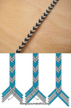 DIY bracelet fishtail braid à 8 brins macramé tressage