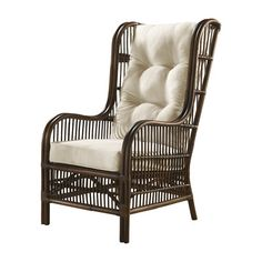 Panama Jack Bora Bora Wingback Chair with Cushion Upholstery: Heather Beige