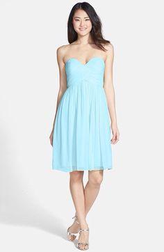 DONNA MORGAN 'MORGAN' Silk Chiffon Strapless Dress 22W Midnight ...