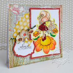 Tiddly Inks Fairy Sunny Day Clear Stamp Set 3x4
