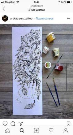 Music Tattoos, Body Art Tattoos, Small Tattoos, Sleeve Tattoos, Tatoos, Fox Tattoo Design, Tattoo Designs, Wolf Tattoos, Animal Tattoos
