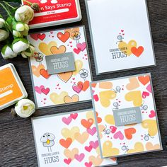 Simon Says Stamp | Tons Of Hearts Four Ways - Easy Valentine's Day Cards Stacking animals