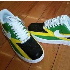 Jamaica Reggae Style, Reggae Music, Jamaican Women, Jamaica Flag, Nike Af1, Colorful Shoes, Tie Shoes, Custom Sneakers, Adidas Sneakers