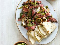 Flank Steak and Rajas Fajitas from #FNMag